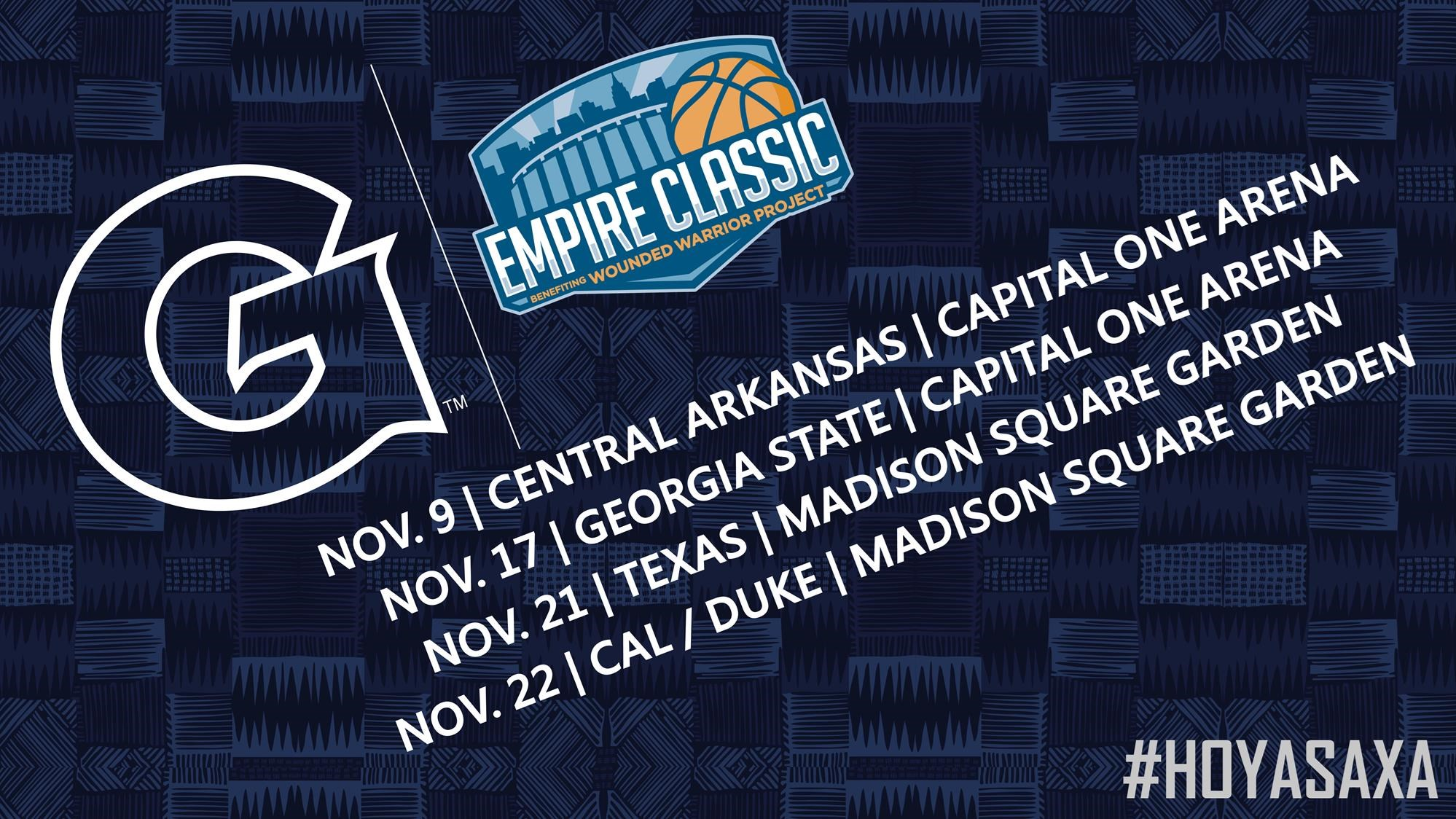 Schedule for Empire Classic Announced